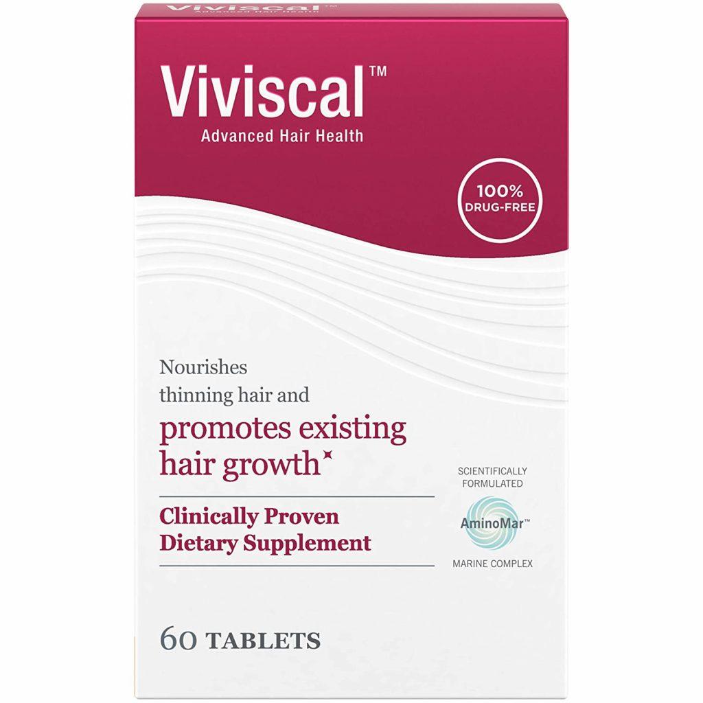 Viviscal Women's Hair Growth Supplements for Thicker, Fuller Hair | Clinically Proven with Proprietary Collagen Complex